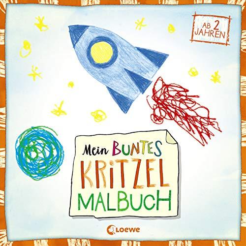 Mein buntes Kritzel-Malbuch (Rakete): ab 2 Jahre
