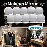 Hollywood Luces de Espejo Maquillaje, Luces LED de Espejo, Luces De Espejo De Tocador Maquillaje, 10 LED Luz de Espejo de Tocador Estilo, 5 Modos de Color 10 Bombillas LED Regulables