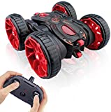 MaxTronic Toy Car Best Birthday Gift for 3-12 Years Old Kids - 360° Flip Remote Control Stunt RC Car, 4WD 2.4Ghz Radio Controlled High Speed Electric Vehicle Truck for Boys Children With LED Light
