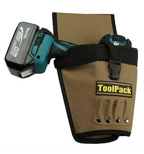 Toolvizion 0 Cinturón Herramientas Tool Pack 360.086 Bolsa de la pistolera para Atornillador inalámbrico, Profesional, Marron