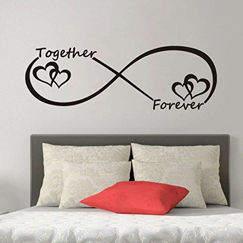 yaonuli Forever Love Ring Vinyl muursticker decoratie huis kinderen muursticker behang