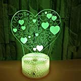 Illusion Lamp Crack Valentine's Day Love 3D Night Light Colorful Led Visual Light Atmosfera Regalo Lampada da tavolo piccola con telecomando Regalo bambino