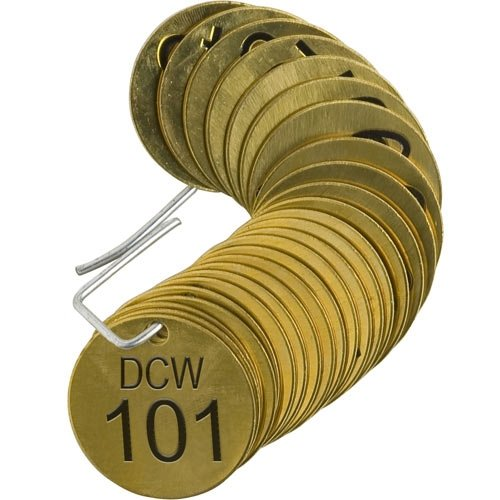 Brady 87204 Stamped Brass Valve Tag safety 4 of Mail order cheap Packs 25 pcs