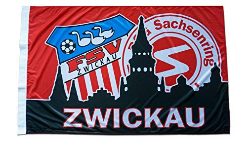 BSG Sachsenring Zwickau FSV Zwickau Schwenkfahne Fahne Flagge 120x80 cm Lizenzprodukt