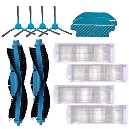MLXG - Filtro HEPA con cepillo de rodillo de la almohadilla de óxido con cepillo lateral, apto para aspirador Cecotec Conga 3290 3490 3690