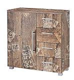 Schildmeyer Kommode Brisbane , Holz, Dekor, 81,5 x 35 x 83 cm, panamaeiche