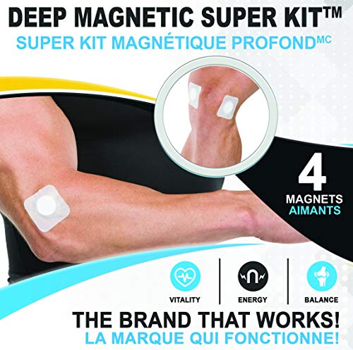 Serenity2000 Deep Magnetic Therapy Spot Magnet Super Kit - Contains 4 Powerful Magnets, 10,000 Gauss Per Magnet.