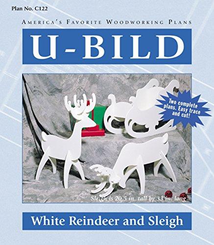 U-Bild C122 2 U-Bild 2 White Reindeer and Sleigh Project Plans