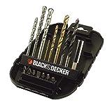 BLACK+DECKER A7186-XJ - Kit de 16 brocas y puntas para taladrar y atornillar