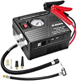 JF.EGWO Car Jump Starter with Air Compressor, 1000 AMP 120 PSI, 18000 mAh Li-on Battery Jump Pack with Air Pump, Built-in 2 USB Charging Ports and 2 LED Light, 8L Gas 5L Diesel Car Starter by JF.EGWO