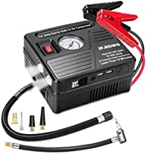 JF.EGWO Car Jump Starter with Air Compressor, 2000 AMP 100 PSI, 20000 mAh Li-on Battery Jump Pack with Air Pump, Built-in 2 USB Charging Ports and 2 LED Light, 8L Gas 6L Diesel Car Starter