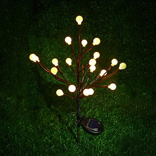 Uonlytech - Lámpara solar para exteriores (2 unidades), diseño de bola de jardín