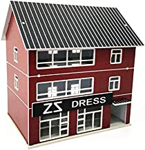 EatingBiting(R) N Scale 1:160 Outland Building Model 3 Story Dress Store Building Model Scene Suitable for: Building Models, Sand Table Model,Scene Layout
