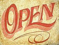 ヴィンテージメタルティンサインインチ、オープンエイジド、バークラブカフェファームの家の装飾アートポスターに適しています