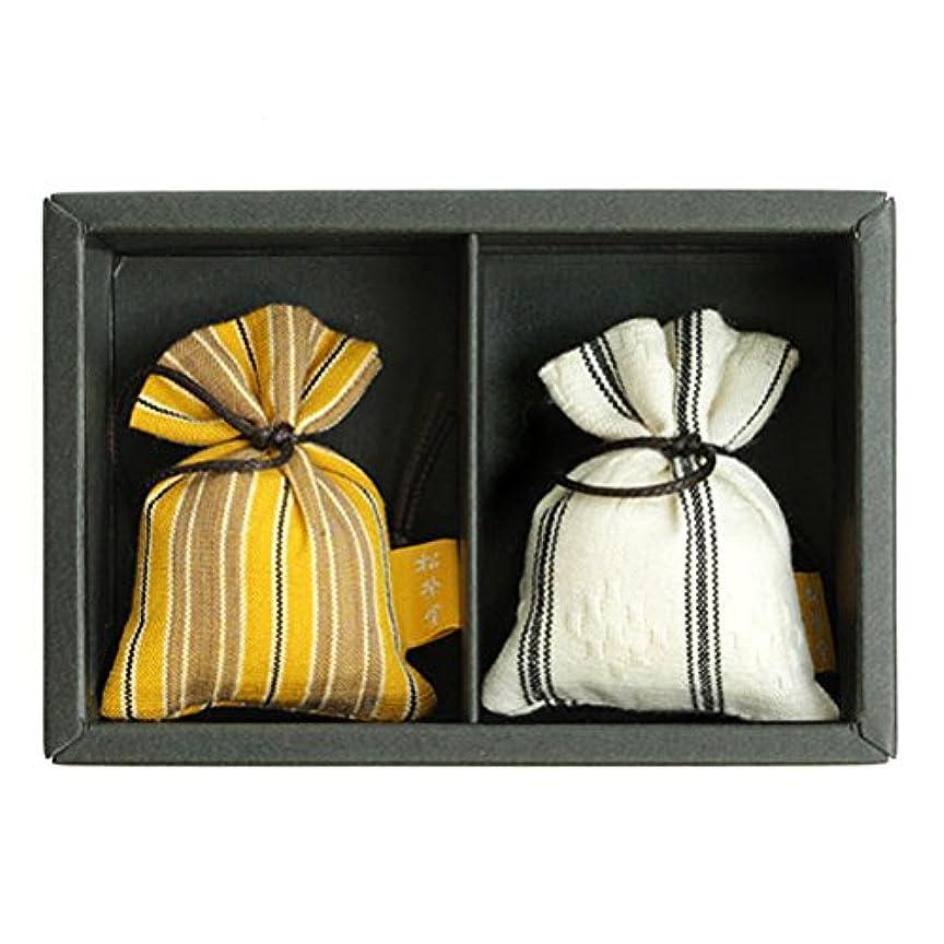 合わせて買い手唯一匂い袋 誰が袖 ルリック(縞) 2個入 松栄堂 Shoyeido 本体長さ60mm (色?柄は選べません)