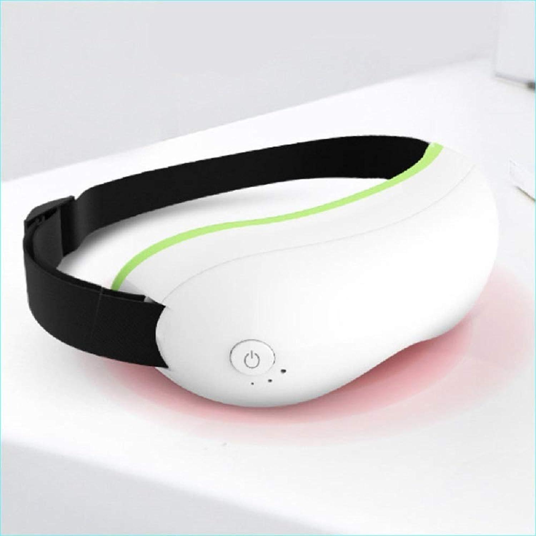 Meet now 暖房付きの高度な充電式ワイヤレスインテリジェント振動アイマッサージ 品質保証 (Color : White)