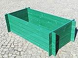 BIHL Stabiler Holzkomposter Hochbeet 170 x 85 x 52 cm 19 mm moosgrün