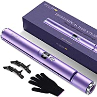 Bestope 2 in 1 Hair Straightener and Curler with Detachable Power Cord (Light Purple)