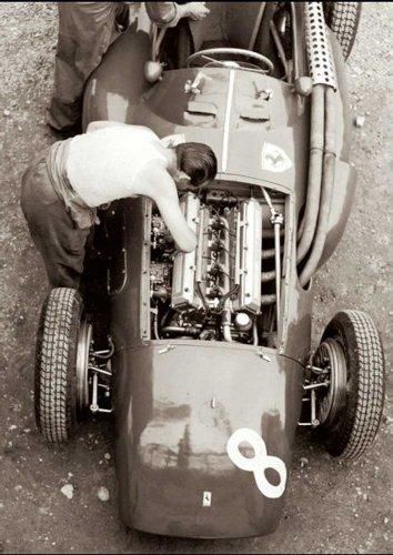 Alexander, Jesse Impression d'art Ferrari Mechanic, French GP, 1954 + accessoires de fixation pas de cadre