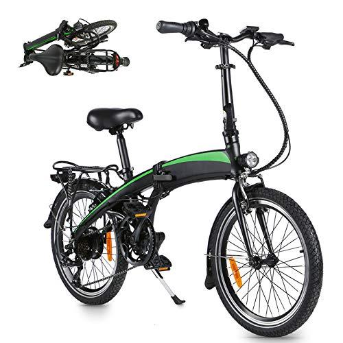 Bicicleta Elctrica Bicicleta Plegable Neumáticos de 20 Pulgadas Bicicletas urbanas eléctricas Bicicleta eléctrica con batería extraíble Bicicleta Unisex