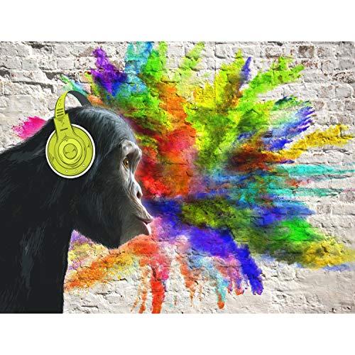 Fototapete Graffiti Affe 396 x 280 cm Vlies Wand Tapete Wohnzimmer Schlafzimmer Büro Flur Dekoration Wandbilder XXL Moderne Wanddeko - 100% MADE IN GERMANY - Runa Tapeten 9169012a