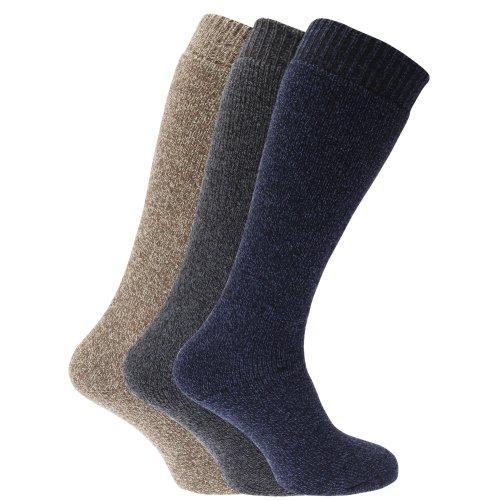 Calcetines térmicos para botas de agua o campo con mezcla de lana para hombre/caballero -...