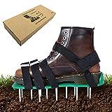 Zapatos de aireador de césped Exnemel, escarificadores manuales de jardín con púas de 50 mm de largo, zapatos de aireación de aireador de picos de césped de alta resistencia para jardín, patio, jardín