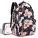 Diaper Bag Backpack, Large Capacity Baby Nappy Changing Bag Multi-Function Waterproof Travel Back Pack for Mom Dad, with...