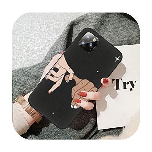 Moda dedo patrón teléfono móvil caso para Huawei P9 P10 P20 P30 P40 Pro Lite Psmart Cover-A9-para P10 Lite