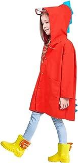 Unisex Kids Dinosaur Raincoat, Rain Wear for Boys Girls 3-8 Years Old