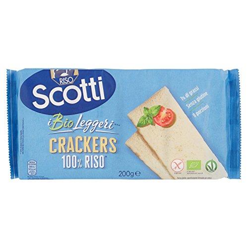 Riso Scotti - Crackers di Riso 100% Senza Glutine Bio - Snack Salati Biologici - 8 Porzioni Singole
