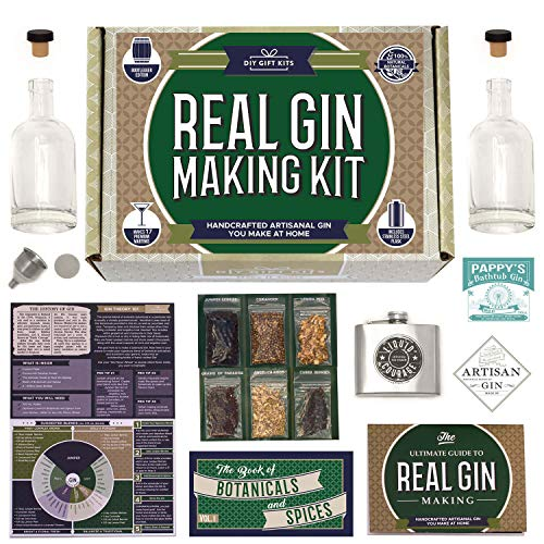 Real Homemade Gin-Making Kit with Stainless Steel Personalized Flask