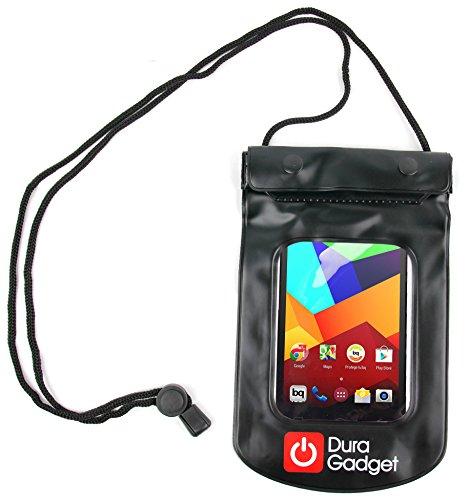 DURAGADGET Bolsa Sumergible En Agua para BQ Aquaris E5 4G / E5 FHD / E5 HD 16GB 8GB / E4 / E4.5 / E4.5 Ubuntu Edition - Color Negro Playa Y Piscina