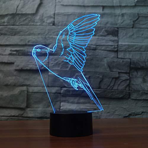 3D Led 7 Farbe Asiatische Karpfen Lampe Visuelle Nachtlichter Kinder Touch Control Usb Tabelle Baby Sleeping Night Lights