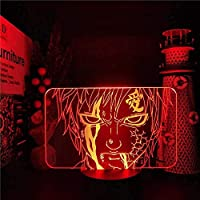BGHDIDDDDD ランプスモールナイトライト3Dナイトライトledイリュージョンライト7色変更usbホームデコレーション,7色+タッチ