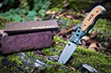 Engraved Groomsmen Knife & Wooden Gift Box- Personalized Wood Knife Boxes + Custom Pocket Knives- Husband Hunting Mens Wedding Gifts Folding Blade Rustic Knifes Lock Open (Engrave Front Only)