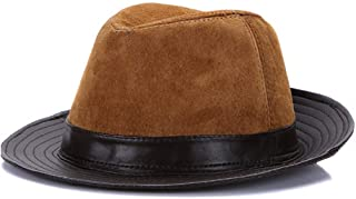 HaiNing Zheng 2019 Men Real Genuine Sheepskin Leather Cowboy Hats Fashion Real Natural Leather Cap Hat Sale Real Sheep Leather Caps