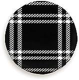 ECNM56B Reifenabdeckung Schwarz Weiß Pixel Check Plaid Beauty Fashion Polyester Universal Reserverad Reifenabdeckung Radkappen für Rv...