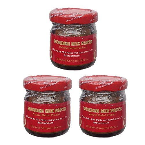 3 x 43g Bitkisel Karisimli Kuvvet Macun Pflanzliche Natural Kraft Paste !! AKTIONSPREIS !! Aphrodisiac Herbal mix fast besser als Themra - Haltbarkeit bis 2022 - HALAL PRODUCT - AKTIONSPREIS