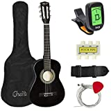 Best Choice Products 30in Kids Classical Acoustic Guitar Complete Beginners Kit w/Carrying Bag, Picks, E-Tuner, Strap (Black)