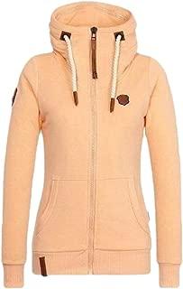 Women Comfortable Regular Fit Hoodie Long Sleeve Lightweight Jacket Coat