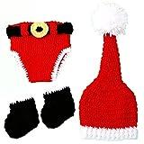 LEORX Baby Fotografie Requisiten Kleinkinder Handarbeit häkeln Weihnachten Hut Kleidung