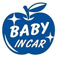 imoninn BABY in car ステッカー 【シンプル版】 No.63 リンゴ (青色)