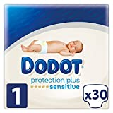 Dodot Sensitive - Pañales para bebé, talla 1 (2-5 kg) , 4 packs de 30, 120...