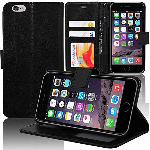 COPHONE Custodia per iPhone 6 Plus, Custodia in Pelle compatibili iPhone 6 Plus/iPhone 6s Plus Nero. Cover a Libro per iPhone 6 Plus Magnetica Portafoglio