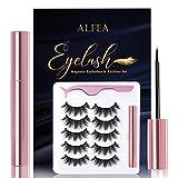 Magnetic Eyelashes with Eyeliner, 5 Pairs Reusable 3D False Eyelashes,...