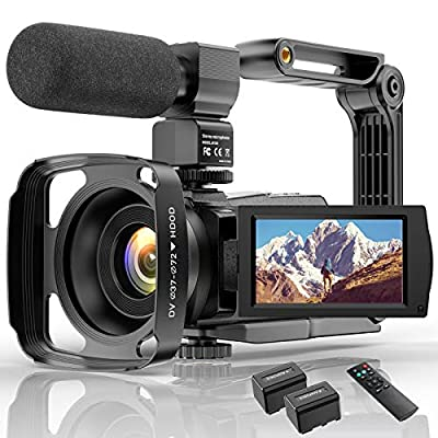 4K Video Camera HD Digital Camcorders Video Camera for YouTube Vlogging Camera, 48MP 16X Digital Zoom IR Night Vision WiFi Video Camera Recorder with Microphone Remote Control Handheld Stabilizer from wechi