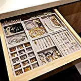 MUY Nuevo cajón Bandeja de Almacenamiento de Joyas de Bricolaje Anillo Pulsera Caja de Regalo Organizador de Joyas Soporte para Pendientes Tamaño pequeño Se Adapta a la mayoría de Las Habitaciones