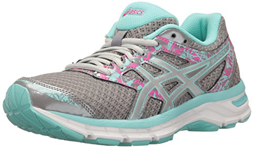 ASICS Women's Gel-Excite 4 Running Shoe, Aluminum/Silver/Aqua Splash, 7.5 M US