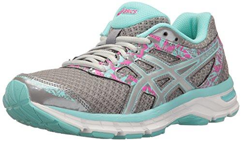 ASICS Women's Gel-Excite 4 Running Shoe, Aluminum/Silver/Aqua Splash, 9 M US